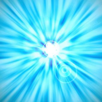 輻射擴散移動光神秘藍