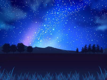 夏天星和夜空和領域背景02