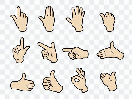 手和手指·手勢·皮膚顏色