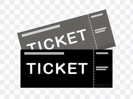 2張票黑色