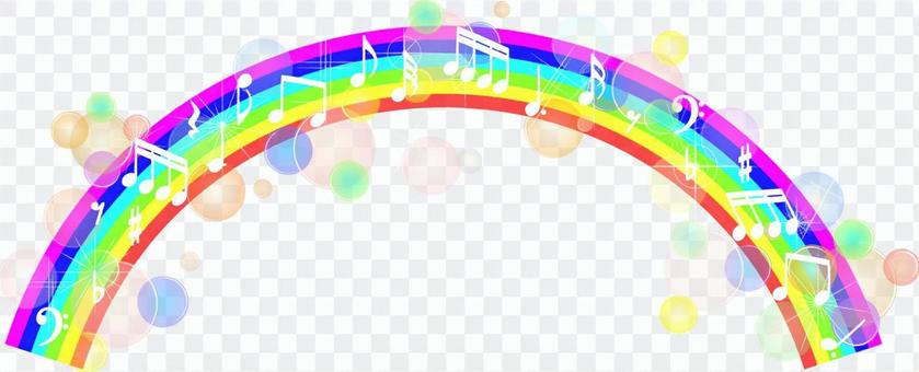Rainbow and note material 02