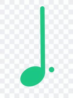 Dotted quarter note note music score score