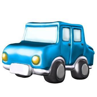 變形的汽車CG斜向側面