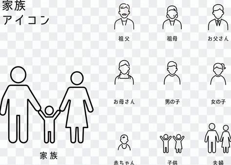 一套家庭圖標