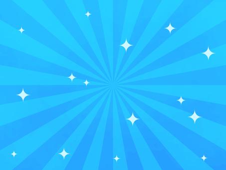旭日背景和閃光(藍色)