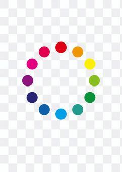 色相のリング3 カラフルリング 色相環