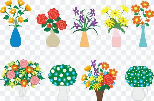 室內花瓶和鮮花