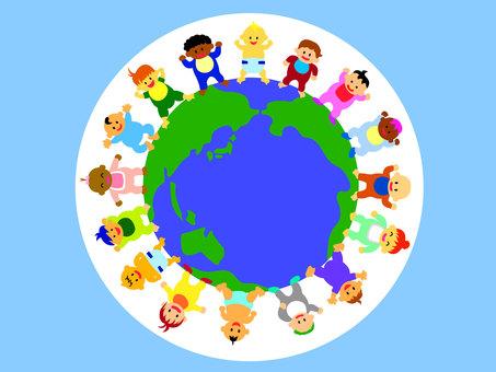世界各地的多樣性嬰兒