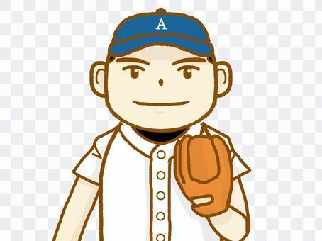 棒球的男孩。
