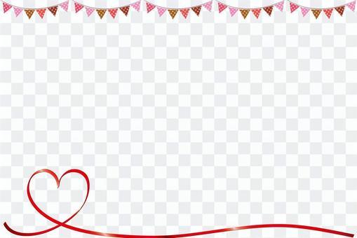 Heart's simple valentine frame