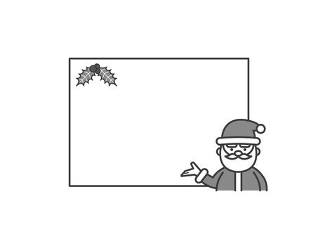 聖誕老人的留言板(單色)