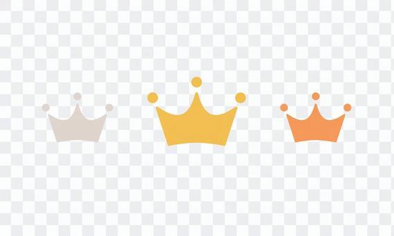金、銀、銅皇冠圖標排名第一