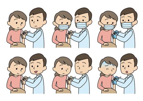 接受肌肉注射、疫苗和疫苗接種的婦女