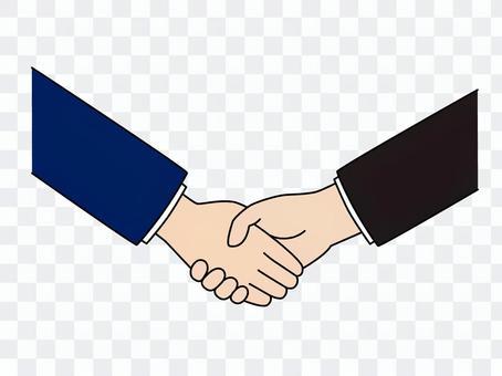 握手(男性×男性)