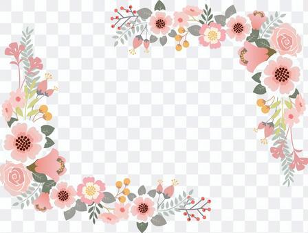 Flower decoration frame 4