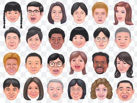 各種面孔的插圖集 3