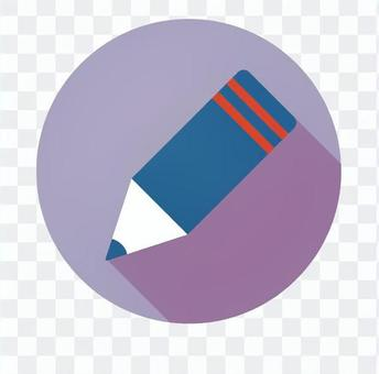 Flat icon - pencil