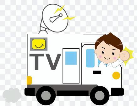 電視廣播車 - 帶人1