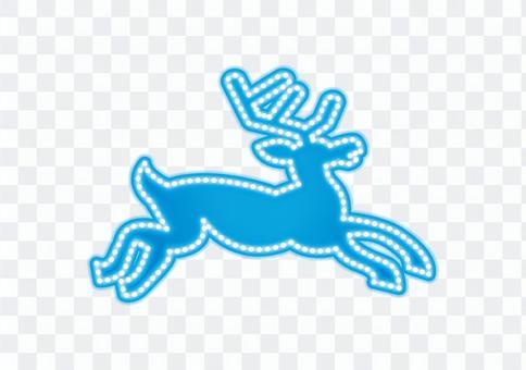 霓虹標誌·馴鹿(白色背景)