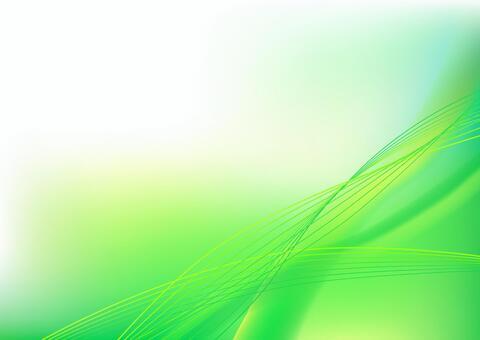 綠色抽象波浪線背景素材