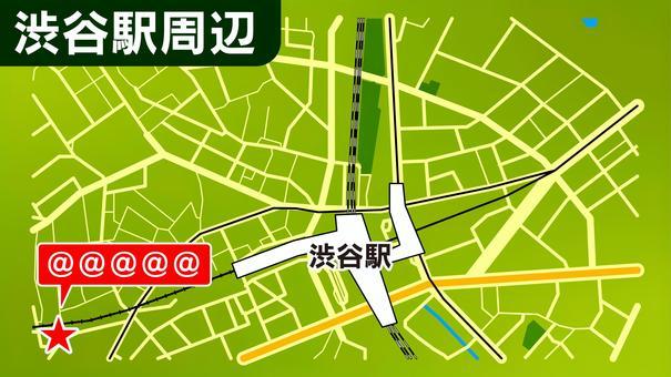 澀谷站附近的地圖