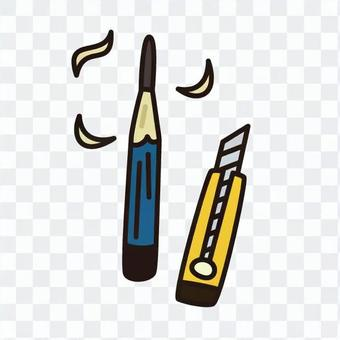 Pencil and cutter