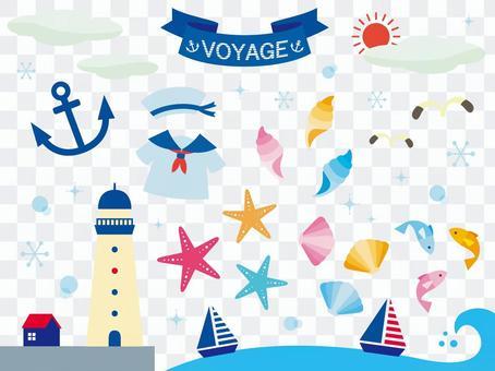 Sea illustration collection