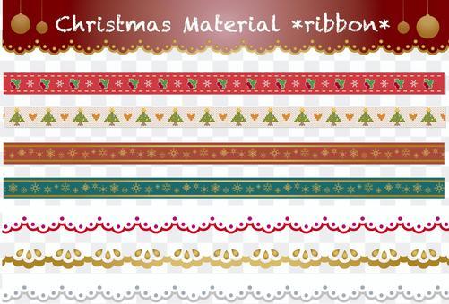 聖誕材料絲帶