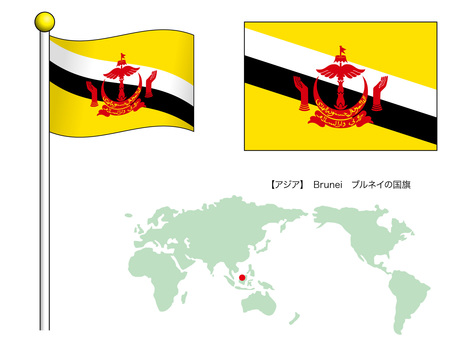 Flag vector 16_Brunei_CS3