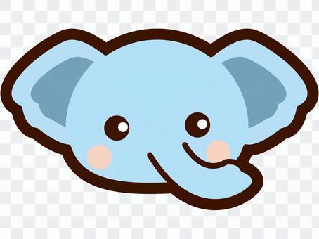 Cute elephant's face