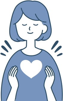 Kindness Female Heart Clean design