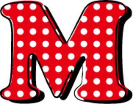 虛線字母M