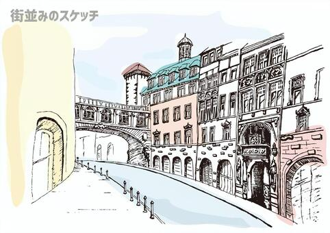 Sketch of the city sketch