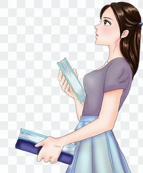 找一本書的女人