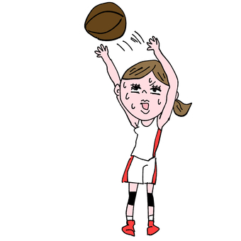Comical female basketball