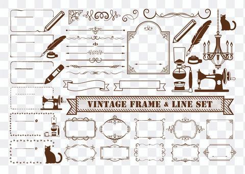 復古框架和線裝飾套