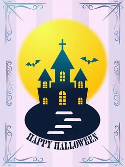 ハロウィン・洋館ポスター