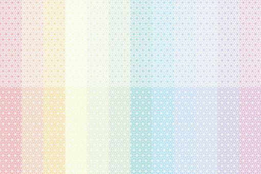 細麻葉紋(花)彩虹色套裝