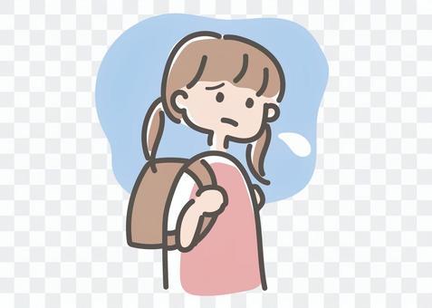学校に行きたくない子ども(女の子)