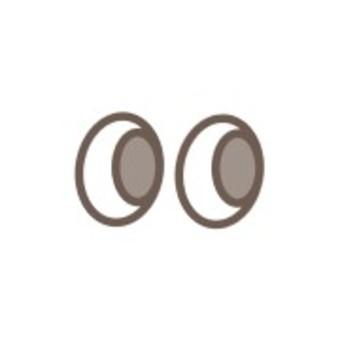 眼睛簡單可愛Kyoro Kyoro黑色和白色