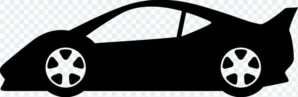 汽車剪影跑車