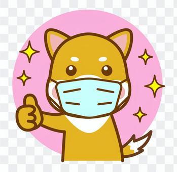 マスク 柴犬 犬