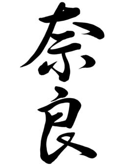 筆文字 奈良 行書1