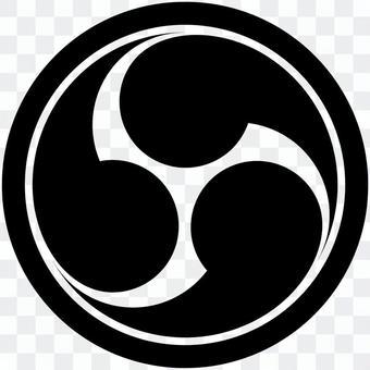 家紋-04(丸に右三つ巴)