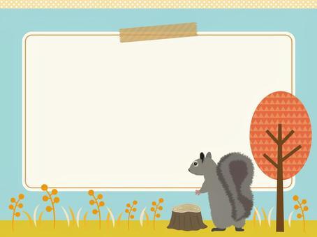 Autumn's horizontal background material 7