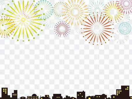 Fireworks display background (white)