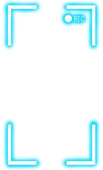 REC frame that glows blue