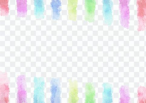 水彩畫的垂直條紋·中央白色·彩虹