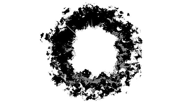 Holes, walls, concrete, destruction, silhouette 2