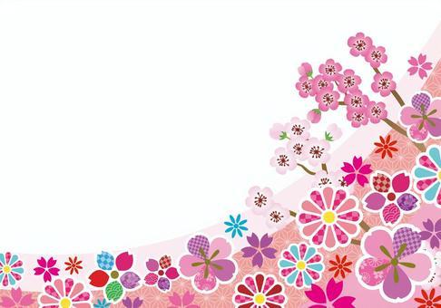 华丽的花框架